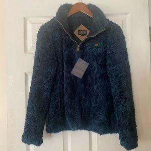 Pendleton Women Fuzzy Full Zip Coat Jacket Size Small Plaid NWT